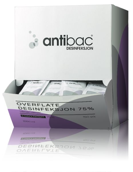 Antibac Overflate enkeltpakket (150 stk)