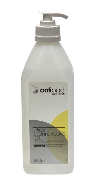 Antibac Hånd gel med trykkpumpe 600 ml