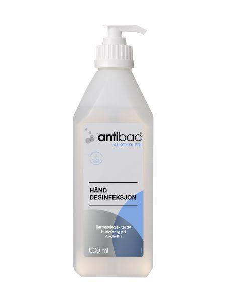 Antibac Alkoholfri Pumpeflaske 600 ml