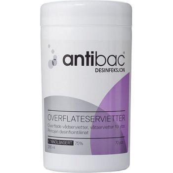 Antibac Våtserviett Antibac, 70stk pr boks