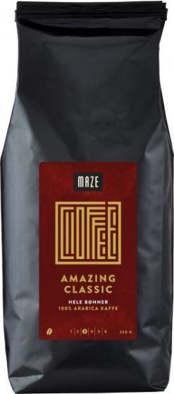 Kaffe hele bønner 250 gr Maze Classic
