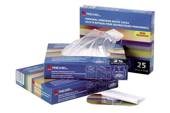 Avfallspose til Rexel makuleringsmaskin 175 liter (50 stk)
