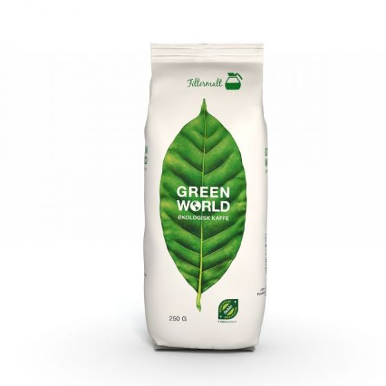 Kaffe Green World, filtermalt, 250g