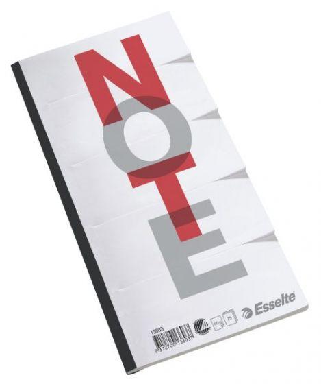 Deltablokk 75 blad, Hvit (10 stk)