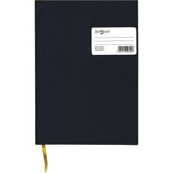 Protokoll A4 96blad linj. m/sidetall, sort