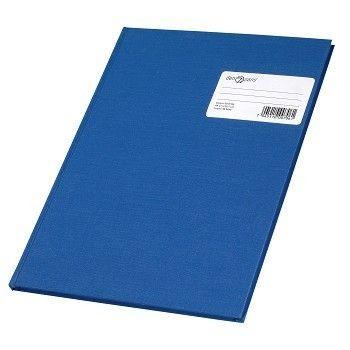 Protokoll A4 96 blad, dobbelkonto, linjer, Blå