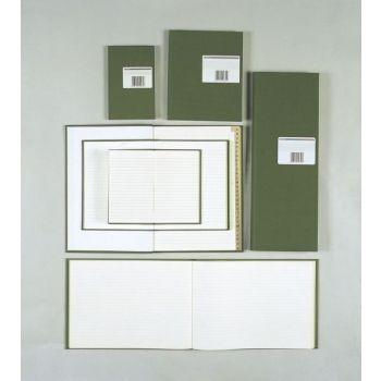 Protokoll A5/A3 144 blad, linjer, Grønn