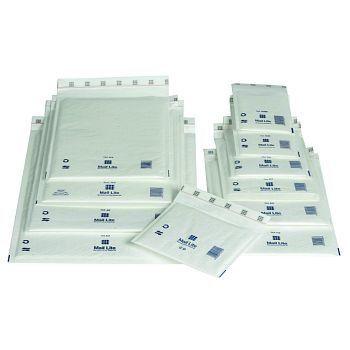 Støtbeskyttende pose 110X160mm Mail Lite A000, hvit boblepose