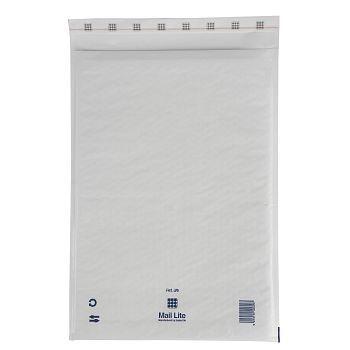 Støtbeskyttende pose 300X440mm Mail Lite J6, hvit boblepose