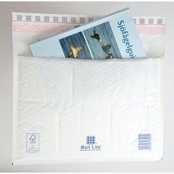 Støtbeskyttende pose330X240mm Mail Lite P, hvit boblepose