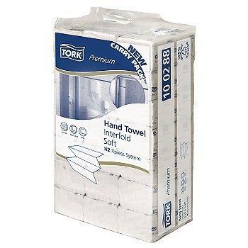 Tørkepapir Multifold Tork Xpress Premium H2 21,2x8,5cm 2-lag