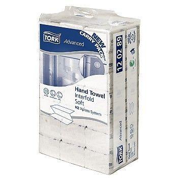 Tørkepapir Multifold Tork Xpress Advanced H2 21,2x8,5cm 2-lag