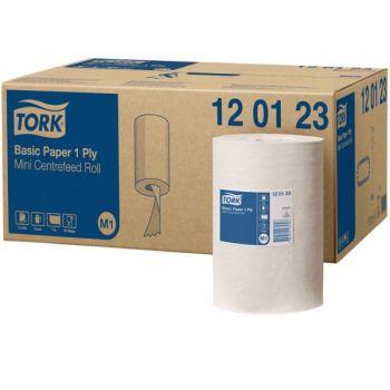 Tørkepapir, rull Tork Basic Mini Senterrull M1 21,5cm x 120meter 1-lag