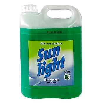 Oppvaskmiddel Sunlight, 5 Liter