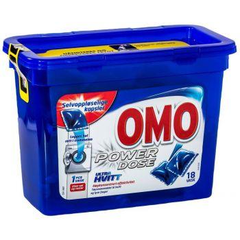 Vaskemiddel Omo Ultra Power dose, Pakke á 18stk