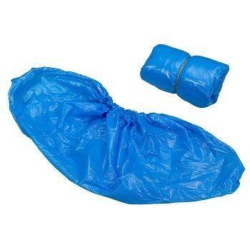 Skoovertrekk i plast, Blå 41 x 15 cm