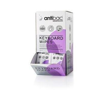 Antibac Keyboard wipes enkeltpakket (80 stk)