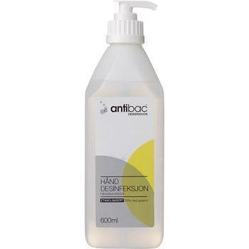 Hånddesinfeksjon Antibac med pumpe, 600 ml