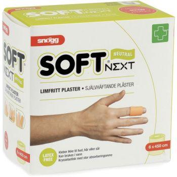 Plaster Snøgg Soft 1, limfritt 6cm x 5 meter