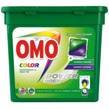 Vaskemiddel Omo Color Power Dose, 30 Kapsler