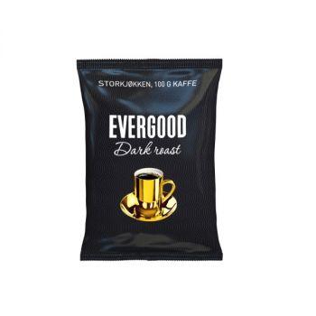 Kaffe Evergood Darkroast, finmalt, 100g