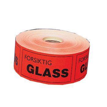 Varseletikett - Forsiktig glass