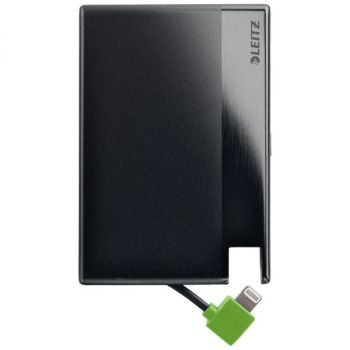 Lader Power Bank kred.kort Lightning 1350, Sort