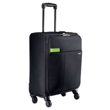 Trillekoffert 4 hjul Leitz Smart Traveller, Sort