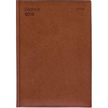 7.sans Dagbok A5 - 14,5x21cm - brun - innbundet