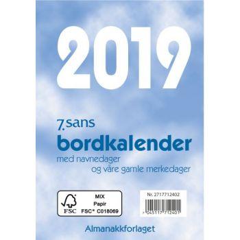 7.sans Bordkalender - 8,3x11,9cm