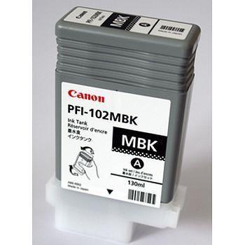 Blekk Canon PFI-102MBK Sort