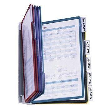 Vingregister Vario, for vegg,  A4 10-lommer, 5 farger