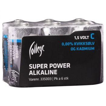 Batteri 1,5V College LR14/C (6 stk)