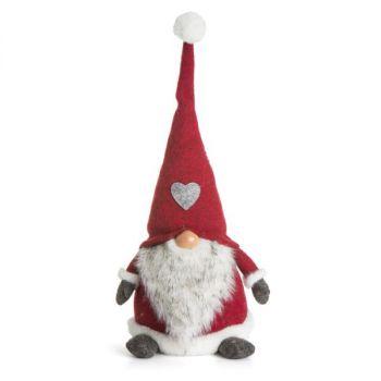 Julenisse med hatt - rød - 44 cm