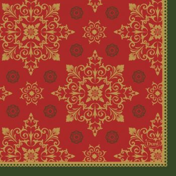 Juleserviett - Duni Xmas Deco - 3-lag - rød - 24x24cm (50 stk)