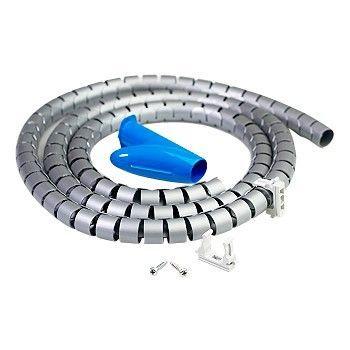 kabelstrømpe 2-meter inkl. verktøy og klips, Sølv