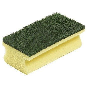 Rengjøringssvamp 75x140x50mm, grønn og gul