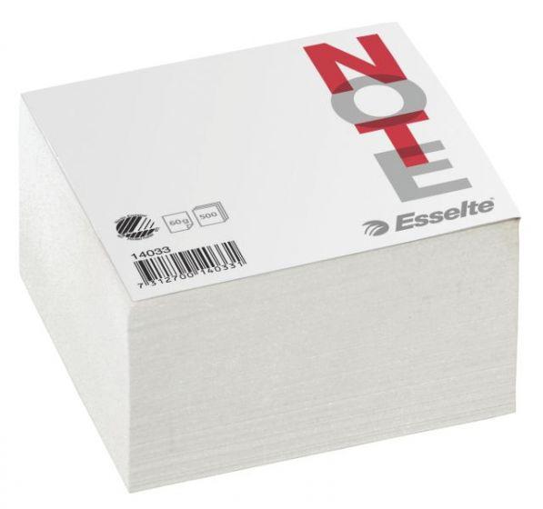Notatblokk 10x10cm, Hvit (5 stk)