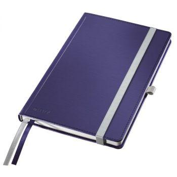 Notatbok Leitz Style A5 hardt omslag, linjert 80 ark, Titan blå