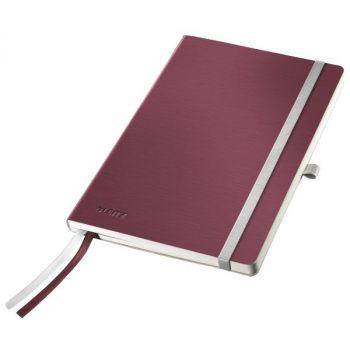 Notatbok Leitz Style A5 mykt omslag, linjert 80 ark, Garnet rød