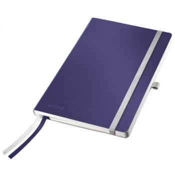 Notatbok Leitz Style A5 mykt omslag, linjert 80 ark, Titan blå