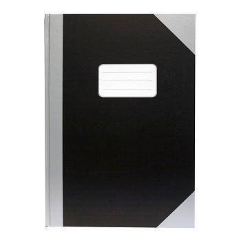 Protokoll A4 78 blad, linjert, Sort og Grå