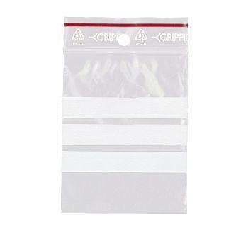 Lynlåsposer, med skrivefelt, 6x8cm