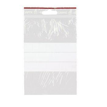 Lynlåsposer, med skrivefelt, 10x15cm