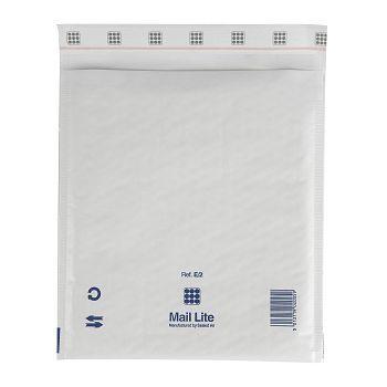Støtbeskyttende pose 220X260mm Mail Lite E2, hvit boblepose