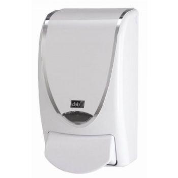 Dispenser, Deb Silverline for skumsåpe 1 Liter, hvit