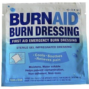 Bandasje, brannsår Burnaid 10x10cm