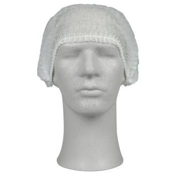 Hårnett, Clip Clap Non-woven 53cm, Hvit