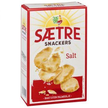 Kjeks - Sætre Snackers salt 120 g (10 pk)