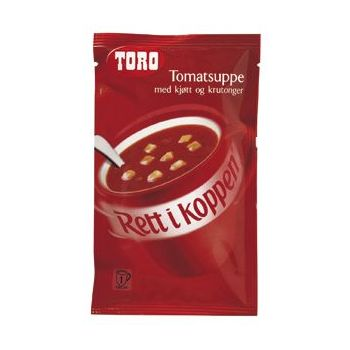 Tomatsuppe med kjøtt og krutonger RIK Toro